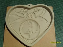 The Pampered Chef Peace on Earth Heart Cookie Mold NIB in Sandwich, Illinois
